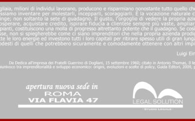 Via Flavia 47 – La nuova sede romana